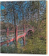 Crim Dell Bridge Spring Wood Print