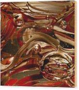 Crimson And Gray Glass Macro Ws4 Wood Print