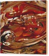 Crimson And Gray Glass Macro Ws6 Wood Print