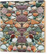 Crimson Field Stone Wood Print