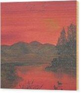 Crimson Lake Wood Print