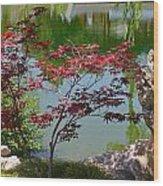 Crimson Leaves Wood Print