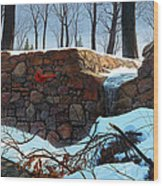 Crimson Morning Wood Print
