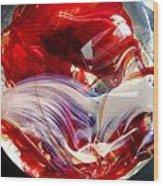 Crimson Orb Wood Print