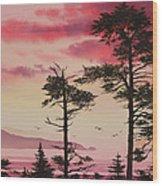 Crimson Sunset Splendor Wood Print by James Williamson