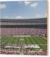 Crimson Tide A-day Football Game At University Of Alabama  Wood Print by Carol M Highsmith
