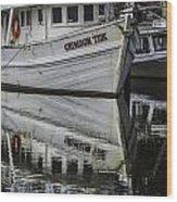 Crimson Tide And Reflection Wood Print