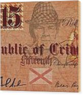 Crimson Tide Currency Wood Print