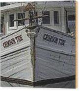 Crimson Tide Headon Wood Print