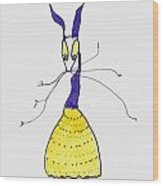 Crinoline Lady Wood Print