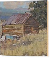 Cripple Creek Cabin Wood Print