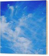Cris Cross Clouds IIi Wood Print