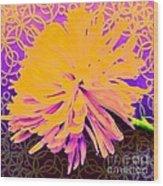 Crisantemo Dorado Wood Print