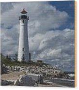 Crisp Point Lighthouse 16 Wood Print