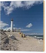 Crisp Point Lighthouse 18 Wood Print