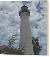 Crisp Point Lighthouse3 Wood Print