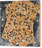 Crispbread With Thyme On Metal Sheet Wood Print