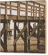 Crisscross Wood Print