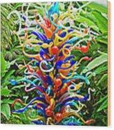 Cristal Garden Wood Print