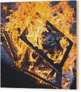Critique Wood Print by Aaron Aldrich
