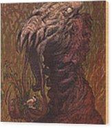 Croakjaw  Wood Print by Ethan Harris