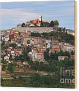 Croatian City Motovun  Wood Print