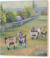 Croatian Goats Wood Print