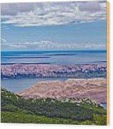 Croatian Islands Aerial View From Velebit Wood Print