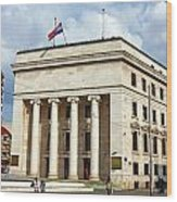 Croatian National Bank Zagreb Wood Print