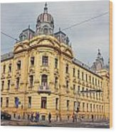 Croatian Railways Administration Building In Zagreb  Wood Print