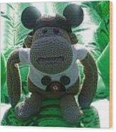 Croc Riding Monkey Wood Print