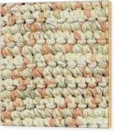 Crochet Rag Rug In Pastel Colours Wood Print