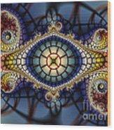 Crochet Work-geometric Abstraction Wood Print
