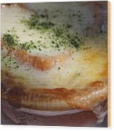 Crock Of French Onion Soup Wood Print