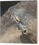 Crocodile Monitor Wood Print