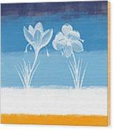 Crocus Flower Wood Print