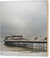 Cromer Pier On A Muggy Cold Day Wood Print by Fizzy Image