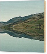 Cromwell Dam Reflections Wood Print