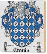 Cronin Coat Of Arms Irish Wood Print
