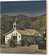 Crooked Creek Chapel Wood Print