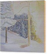 Crooked Creek Morning Light Wood Print
