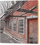 Crooked House Wood Print by Sharon Costa