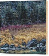 Crooked River At Smith Rock Wood Print