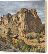 Crooked River Towers Wood Print