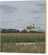 Crop Dusting 2 Wood Print by Victoria Sheldon