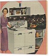 Crosleys  1950s Uk Cookers Kitchens Wood Print