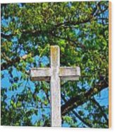 Cross At The Monastery Of The Holy Spirit Wood Print