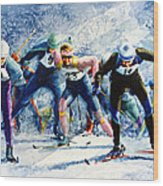 Cross-country Challenge Wood Print by Hanne Lore Koehler