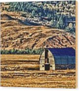 Cross Country Deserted Wood Print by Rebecca Adams