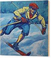 Cross Country Skier Wood Print